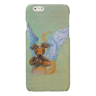 Brown Dragon With White Wings Glossy iPhone 6 Case