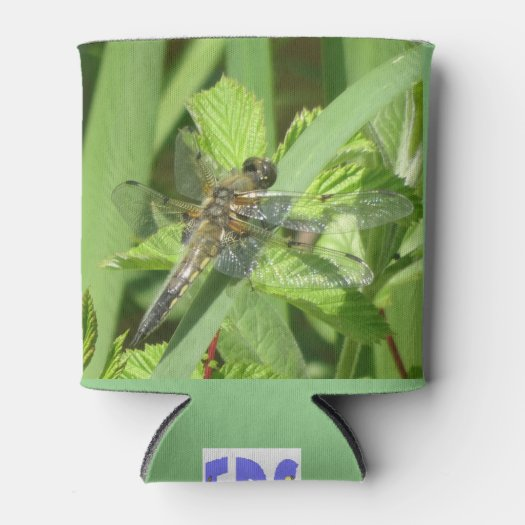 Brown Dragonfly Can Cooler