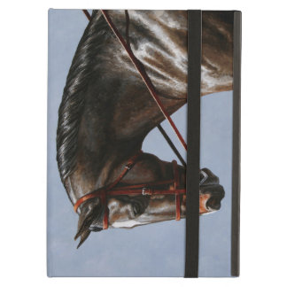 Brown Dressage Horse Portrait Cover For iPad Air