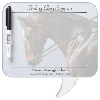 Brown Dressage Horse Portrait Dry-Erase Board