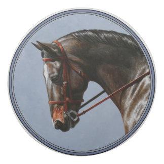 Brown Dressage Horse Portrait Eraser