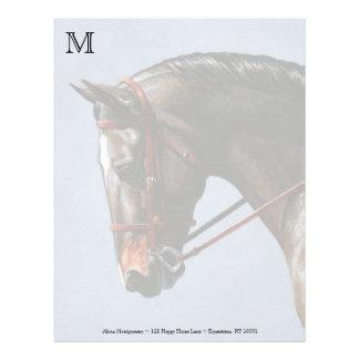 Brown Dressage Horse Portrait Letterhead