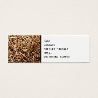Brown Dried Out Plant Mini Business Card