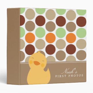 Brown | Duckie And Polkadots Binder
