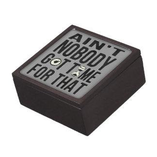 Brown dulce divertido no es nadie hora conseguida caja de regalo de calidad