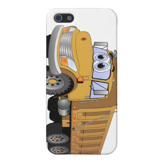 Brown Dump Truck Cartoon Covers For iPhone 5