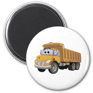Brown Dump Truck Cartoon Magnet