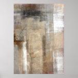 Brown e impresión beige del poster del arte abstra