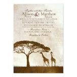 Brown e invitación africana de marfil del boda de invitación 12,7 x 17,8 cm