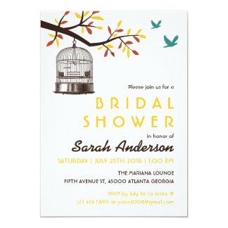 Brown e invitación amarilla de la ducha de la