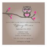 Brown e invitación rosada de la fiesta de invitación 13,3 cm x 13,3cm