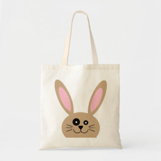 Brown Easter Bunny Tote Bag