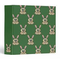 Brown Easter Bunny Binder