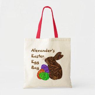 Brown Easter Bunny Easter Eggs Colorful Rabbit Fun Tote Bag