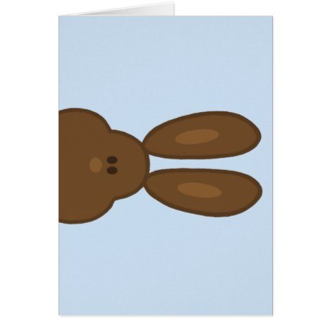 Brown Easter Bunny Face Greeting Card