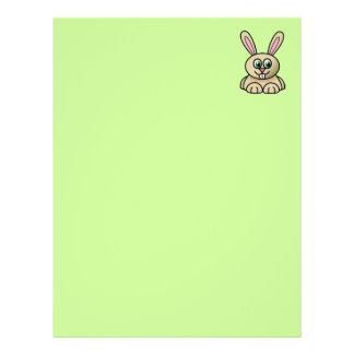 Brown Easter Bunny Recycled Letterhead Paper 2