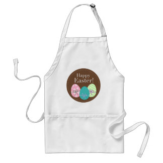 Brown Easter Eggs Happy Easter Adult Apron