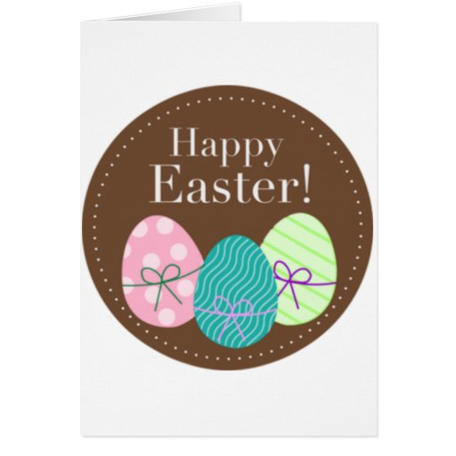 Brown Easter Eggs Happy Easter Cards