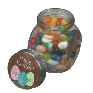 Brown Easter Eggs Happy Easter Glass Jars