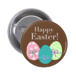 Brown Easter Eggs Happy Easter Pins