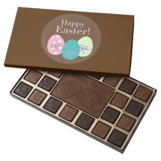 Brown Easter Eggs Happy Easter 45 Piece Box Of Chocolates