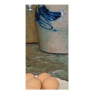 Brown Eggs and Ginger Jars Customized Photo Card