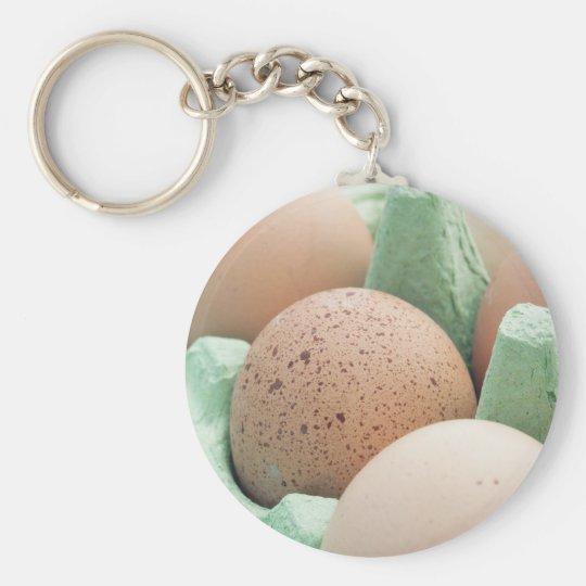 Brown Eggs Keychain