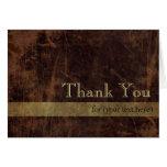 Brown/el oro ejecutivos personalizados le agradece