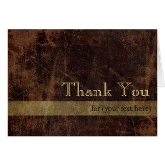 Brown el oro ejecutivos personalizados le agradece