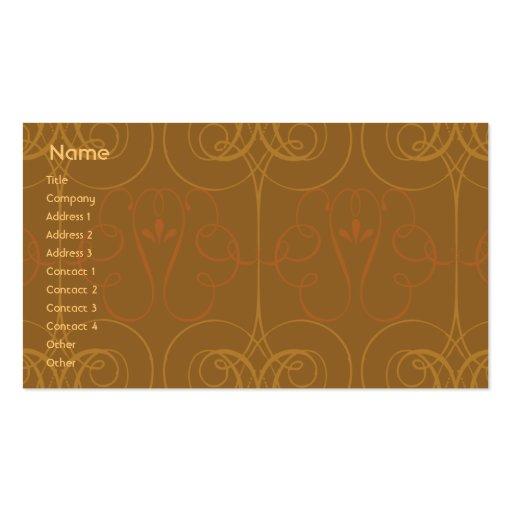 Brown Elegant - Business Business Card