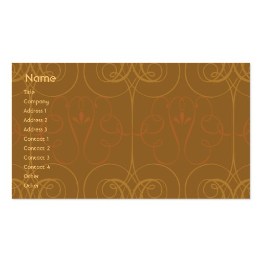 Brown Elegant - Business Business Card Template
