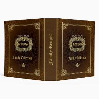 Brown & Elegant Gold Recipes Vinyl Binders