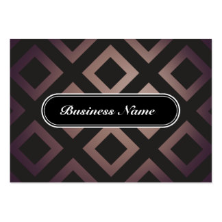 Brown Elegant Graphic Square Pattern Business Cards