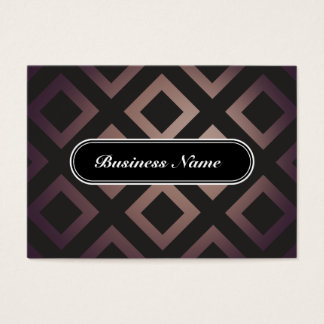 Brown Elegant Graphic Square Pattern Business Card