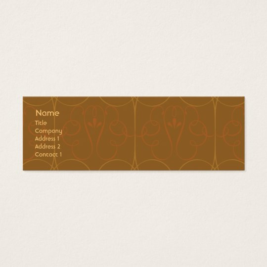 Brown Elegant - Skinny Mini Business Card