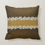 Brown elegante y almohada de oro del acento de Ede