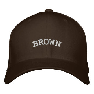 BROWN EMBROIDERED BASEBALL CAP