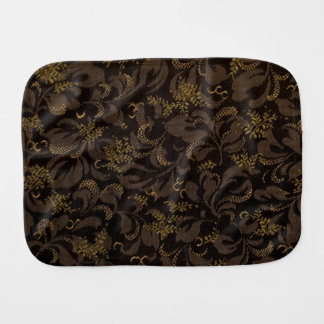 Brown Embroidery Look Burp Cloth
