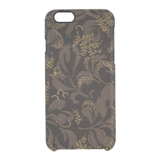 Brown Embroidery Look Clear iPhone 6/6S Case
