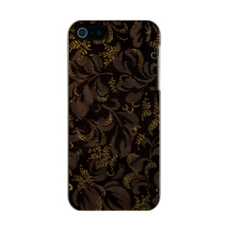 Brown Embroidery Look Metallic iPhone SE/5/5s Case