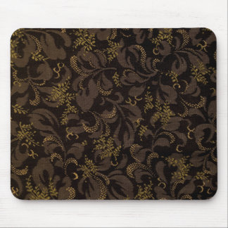 Brown Embroidery Mouse Pad