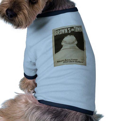 Brown en ciudad ropa perro