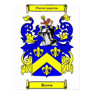 Brown (English) Coat of Arms Postcard