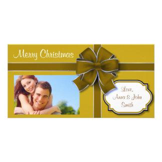Brown envolvió el presente tarjeta fotografica personalizada