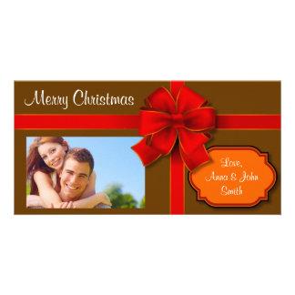 Brown envolvió el presente tarjeta personal con foto
