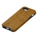Brown equipó el país de cuero del vaquero de la mi iPhone 5 funda