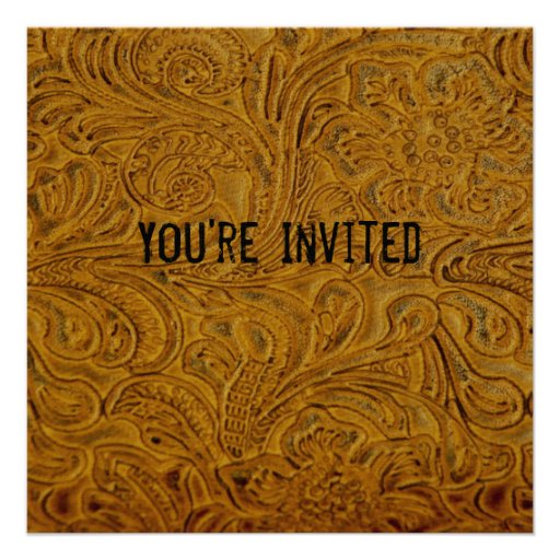 Brown equipó la invitación de cuero