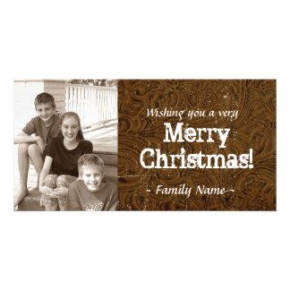 Brown equipó la tarjeta de Navidad de cuero de la Tarjetas Personales