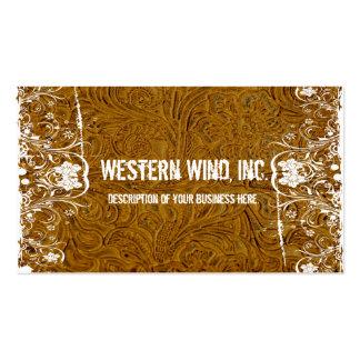 Brown equipó la tarjeta de visita del cuero y del