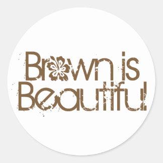 Brown es hermoso (el pegatina)